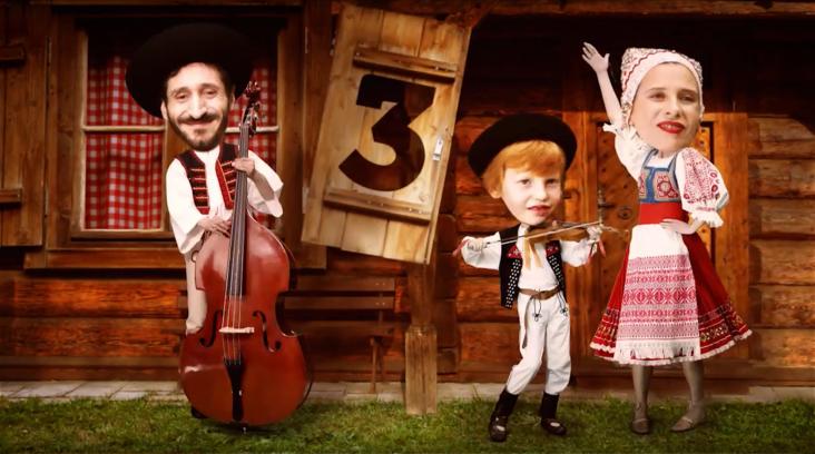 Tradiční folklóristi - kampaň Slovenská požičovňa 2016