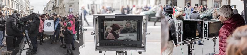 Záber z natáčania